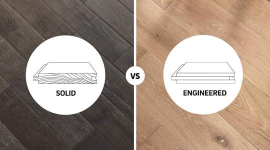 Solid Hardwood vs. Engineered Wood Flooring works