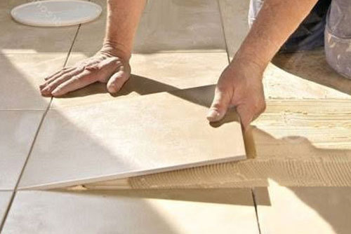 Tile floor installation in Addison, TX